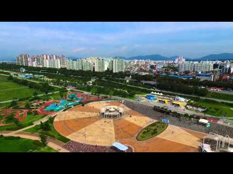 Seoul (서울) Han River Park (한강공원) in South Korea from above - DJI Phantom 3