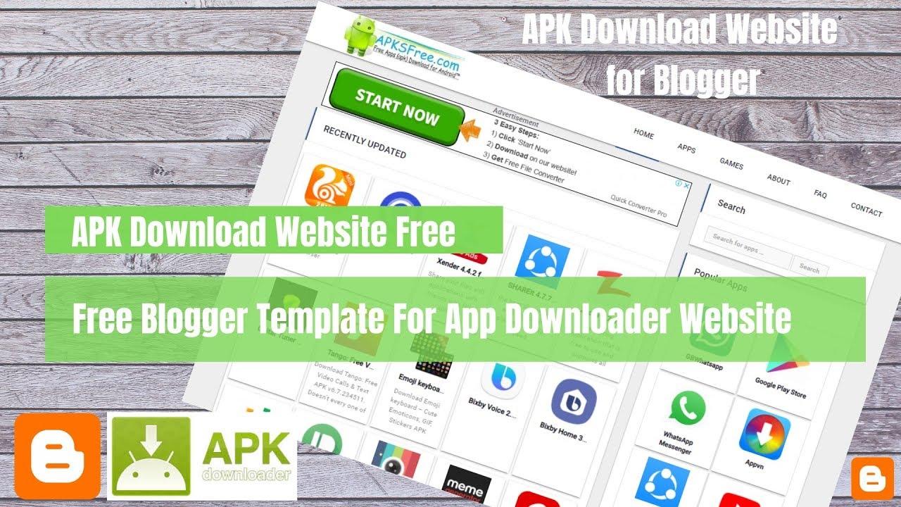APK Downloader Blogger Template Free Download » Php MySQL