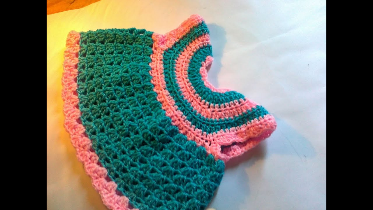 Crochet baby frock step by step - YouTube