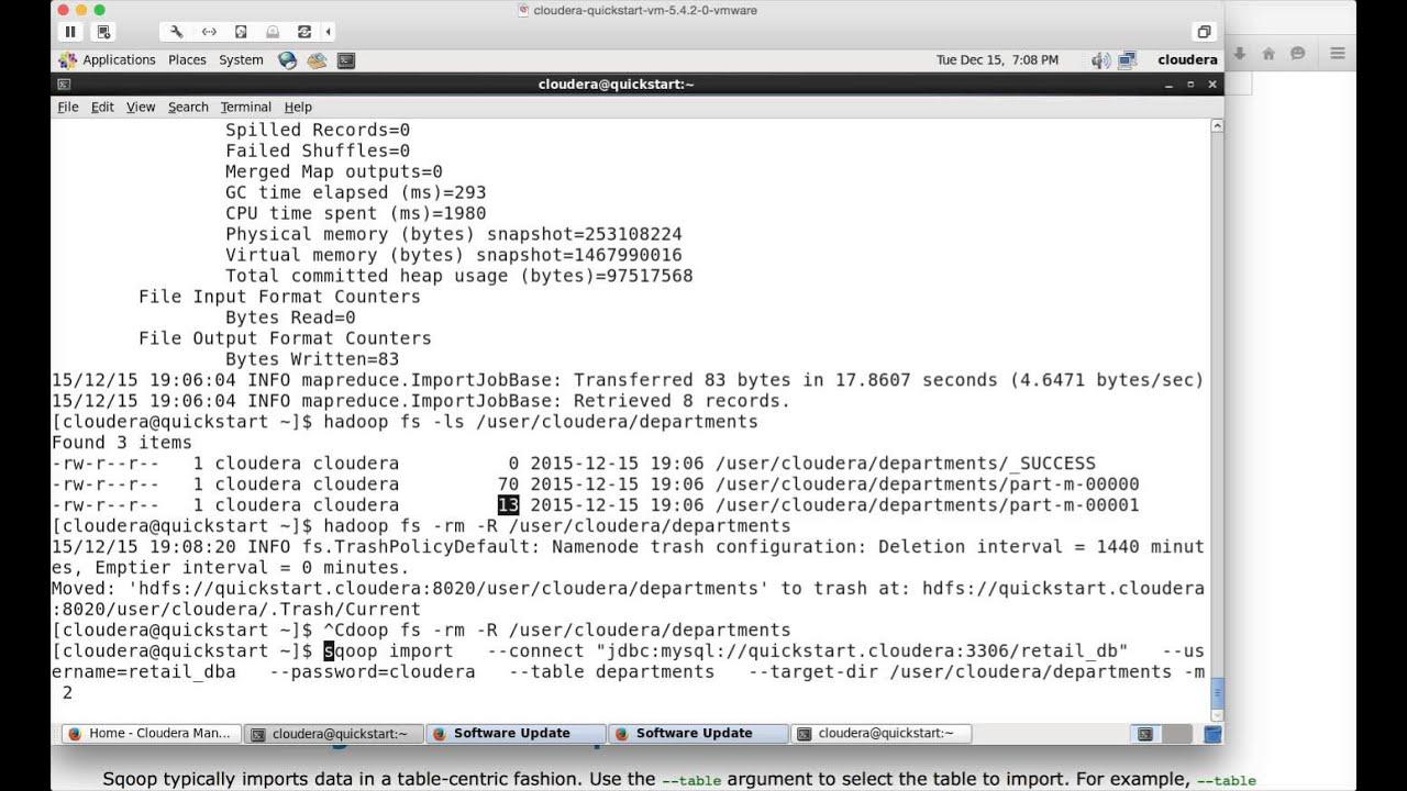 Hadoop Certification 03 Sqoop Import Youtube