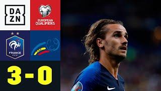 Griezmann verschießt erneut Elfmeter: Frankreich - Andorra 3:0 | EM-Quali | DAZN Highlights