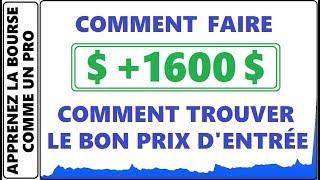 TROUVER LE BON PRIX D'ENTRÉE LORS DE VOTRE PRISE DE POSITION EN DAY TRADING! +1600$ PENNY STOCK NETE