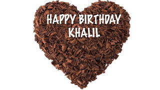 Khalil  Chocolate - Happy Birthday