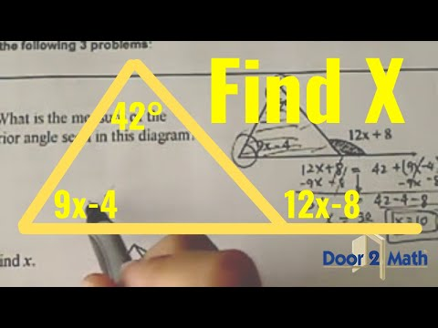 *Exterior Angle Theorem ( Geometry): Find X From The Figures Given