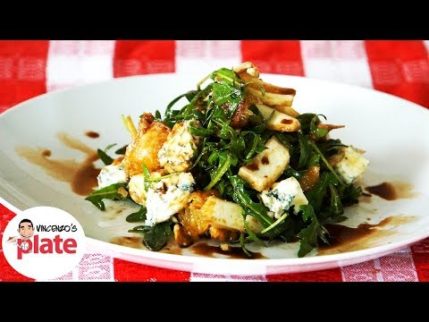 FENNEL and ORANGE SALAD With Arugula Gorgonzola and Walnuts | Italian Salad