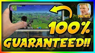 How to Get Fortnite On Your Phone!! (get the invitation link - guaranteed)