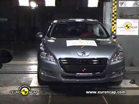 2011 peugeot 508 euroncap crash tests (frontal offset, side