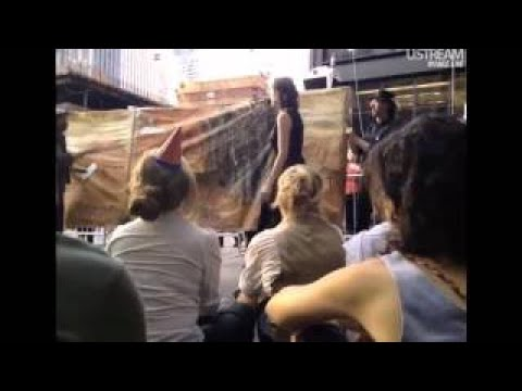 Occupy the Stage Theatre with Players Playing t 17, 2017 at Zuccotti Park