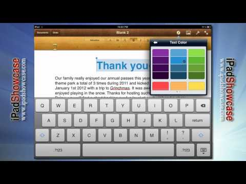 PAGES: WORD PROCESSOR FOR IPAD AND IPAD 2 - APP TOUR