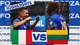 Highlights Italia Lituania 5 0 8 settembre 2021