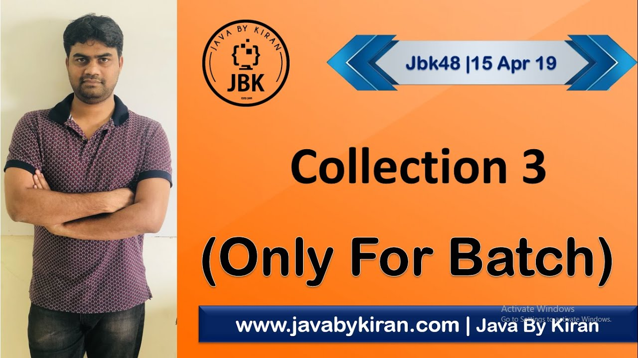 Collection 3- 15 April 2019 --By Kiran Sir-JAVA By Kiran,Pune - YouTube