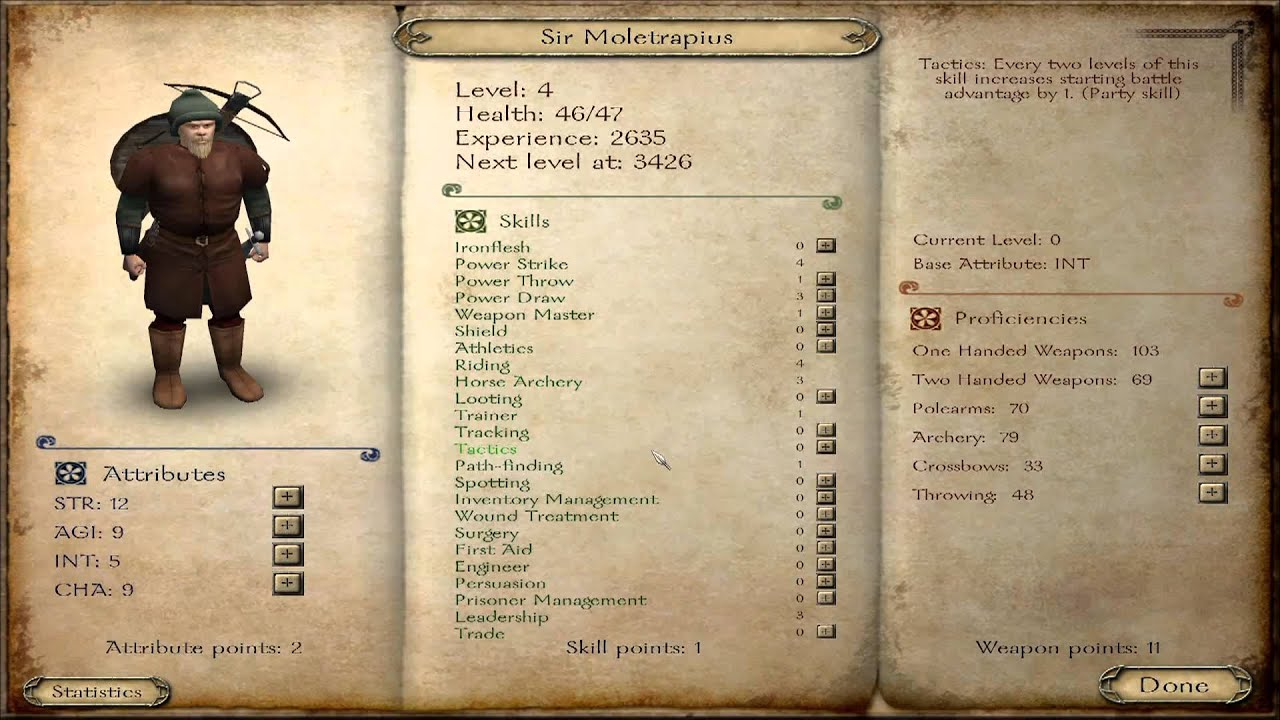 Mount and Blade: Heroes and Party Skills Strategy / Etc