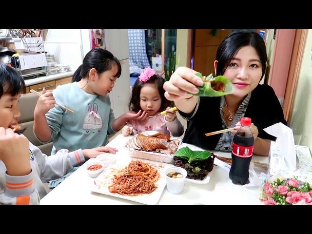 ????????Vlog 124 || Chân Giò Heo H?m Thu?c B?c Hàn Qu?c || ?? ????||Gia ?ình Vi?t Hàn
