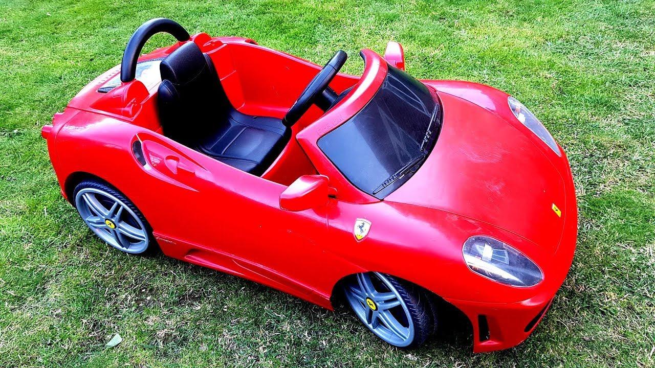 Ferrari F430 Ride On Toy Car Walkaround Kids Playtime Fun Youtube