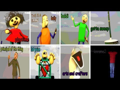 All Characters & Voices v1.3.2 - Baldi's Basics in Education and Learning (NEW)