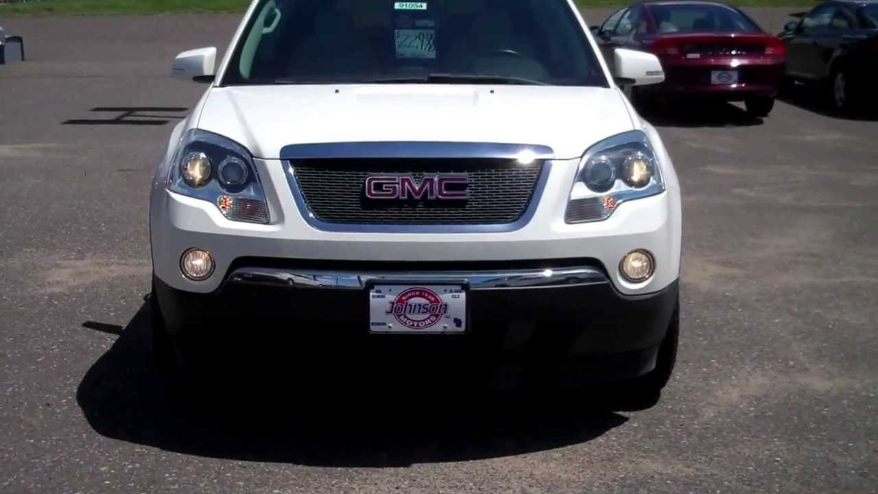 2009 gmc acadia slt 1 awd at johnson motors in st croix falls youtube. Black Bedroom Furniture Sets. Home Design Ideas