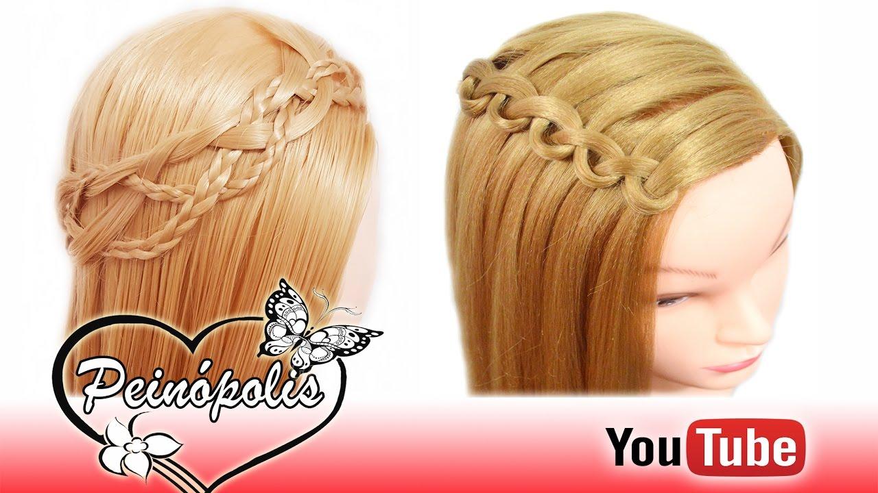 2 Peinados Semirecogidos Con Trenzas Para Cabello Corto Y Largo Faciles