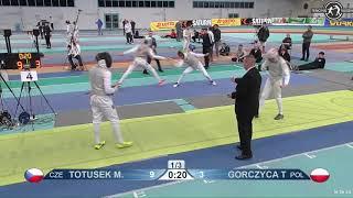 2018 1234 T16 03 M F Individual Halle GER European Cadet Circuit YELLOW GORCZYCA POL vs TOTUSEK CZE