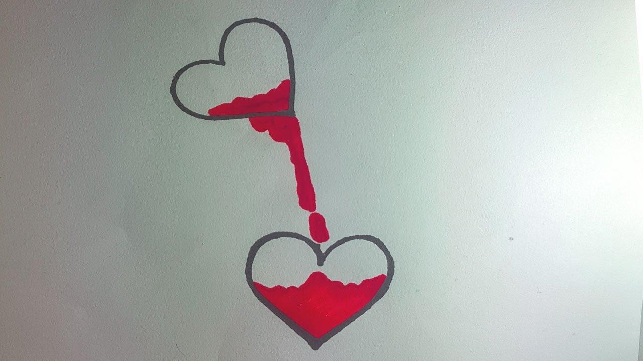 How To Draw Broken Heart !! Broken Heart Real Easy !! Top