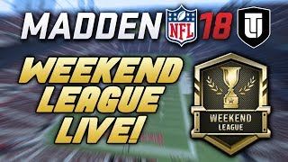 MADDEN NFL 18 MUT 18 WEEKEND LEAGUE LIVE with PurpleSwordfish! [Archive 4/19/2018]