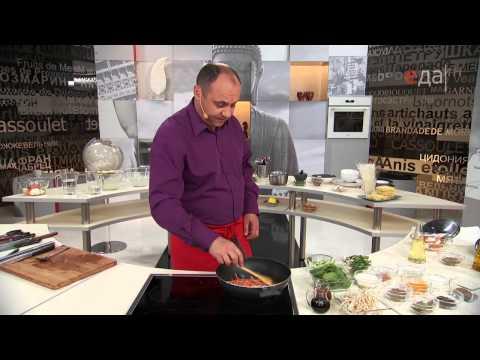 Рисовая лапша с морепродуктами кулинарный рецепт