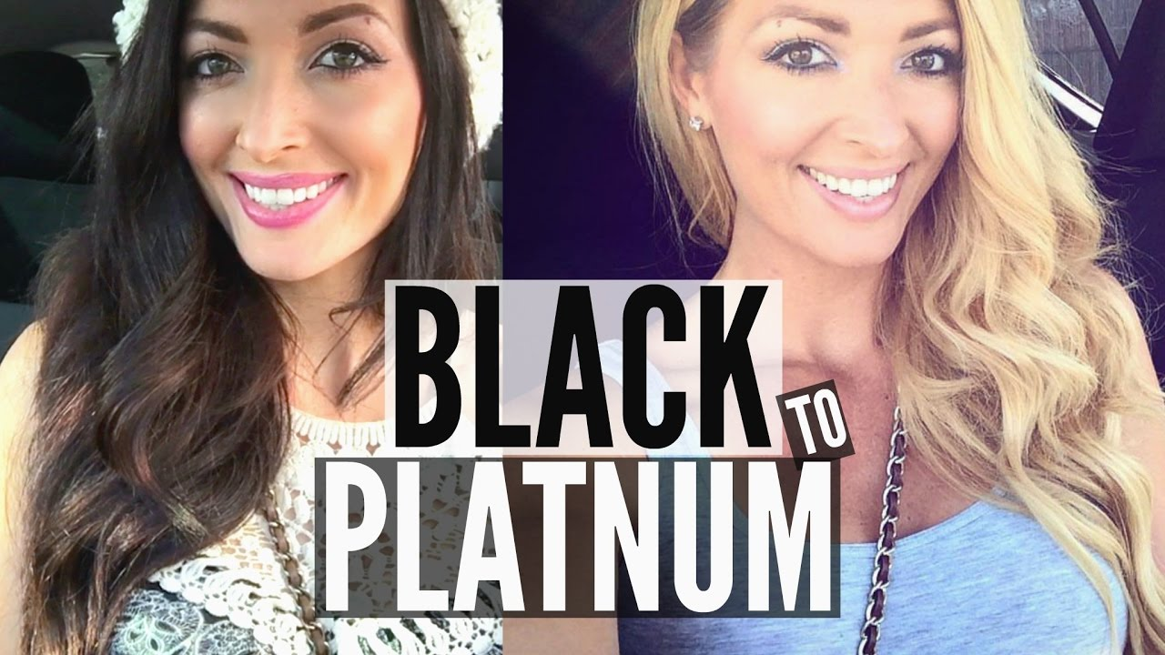 color oops on dark hair to blonde dyed black hair to ...
