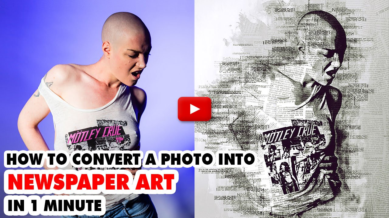 Newspaper Art Photoshop Action - Video Tutorial | Mesothelioma Attorney Directory Of Photoshop