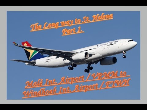 X-Plane11 - IVAO | The long way to St. Helena via Windhoek Part1./ A330-200 South African [Ger/Eng]