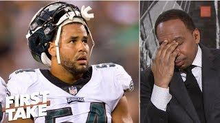 Stephen A. flabbergasted at Eagles LB Kamu Grugier-Hill's 'choke' remarks about Cowboys | First Take