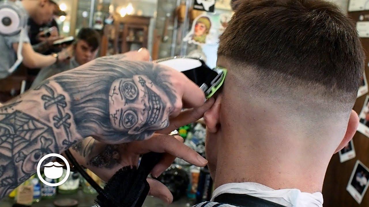 Classic Barbershop Skin Fade Haircut Youtube