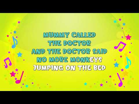 Ten Little Monkeys | Karaoke | Learning Song | Counting Song | Nursery Rhyme | KiddieOK