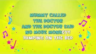 Ten Little Monkeys | Karaoke | Learning Song | Counting Song | Nursery Rhyme | KiddieOK