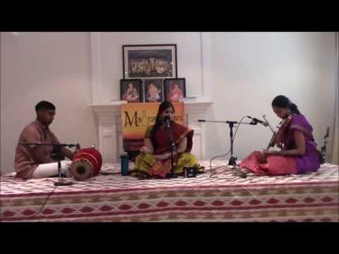 Maduradhvani Toronto 2016 series - Concert # 10 by Kum. Swathi Badrinarayanan July 17, 2016