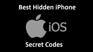 5 Best Hidden iPhone Secret Codes (you may or may not know...) Works on iPhone 7