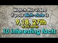 10 Facts about the People Born on  9, 18 or 27th Date of Any Month | Personality Traits