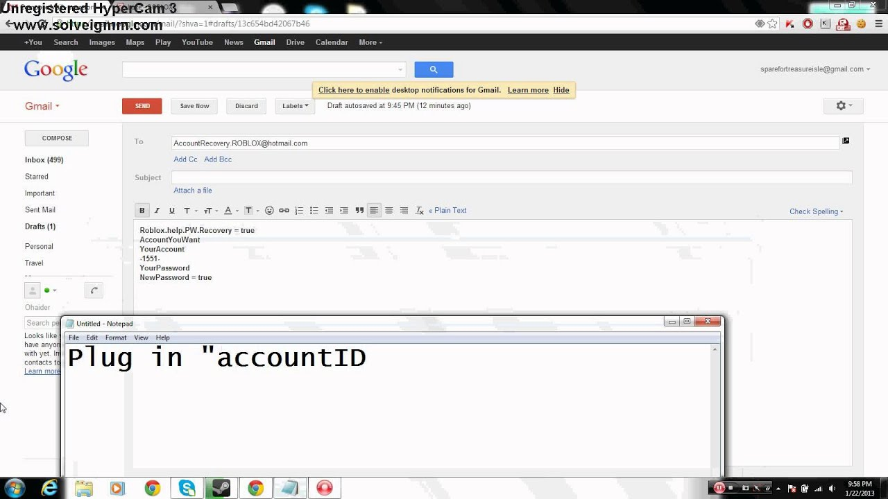 ROBLOX Account Exploit 2013 -NOT PATCHED!-