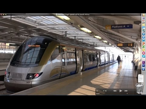 Gautrain:  High-speed rail in South Africa