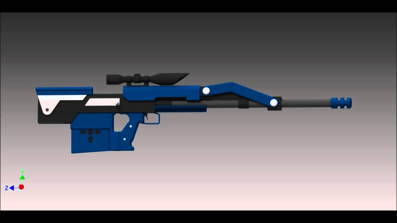 Online Blueprint Designer Rwby Weapon Design Sniper Battle Axe Youtube