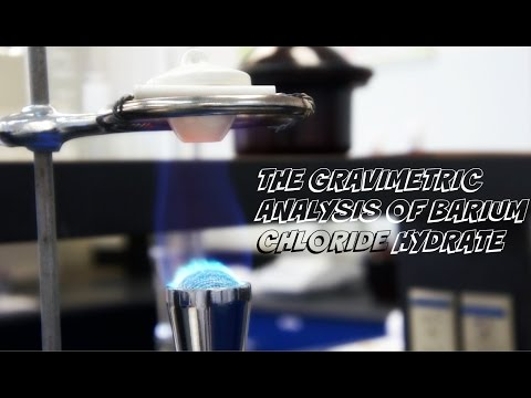 Lab Experiment #4: The Gravimetric Analysis Of Barium Chloride Hydrate.