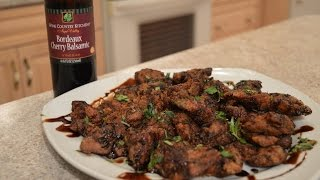 How To Cook Napa Valley Bordeaux Cherry Balsamic Chicken Livers: Cooking With Kimberly