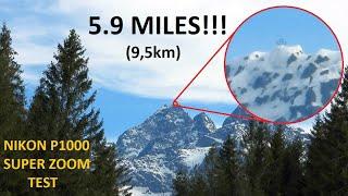 Nikon P1000 - SUPER ZOOM Test. Cross on top of the mountain!  Vysoká (Wysoka) in High Tatras.
