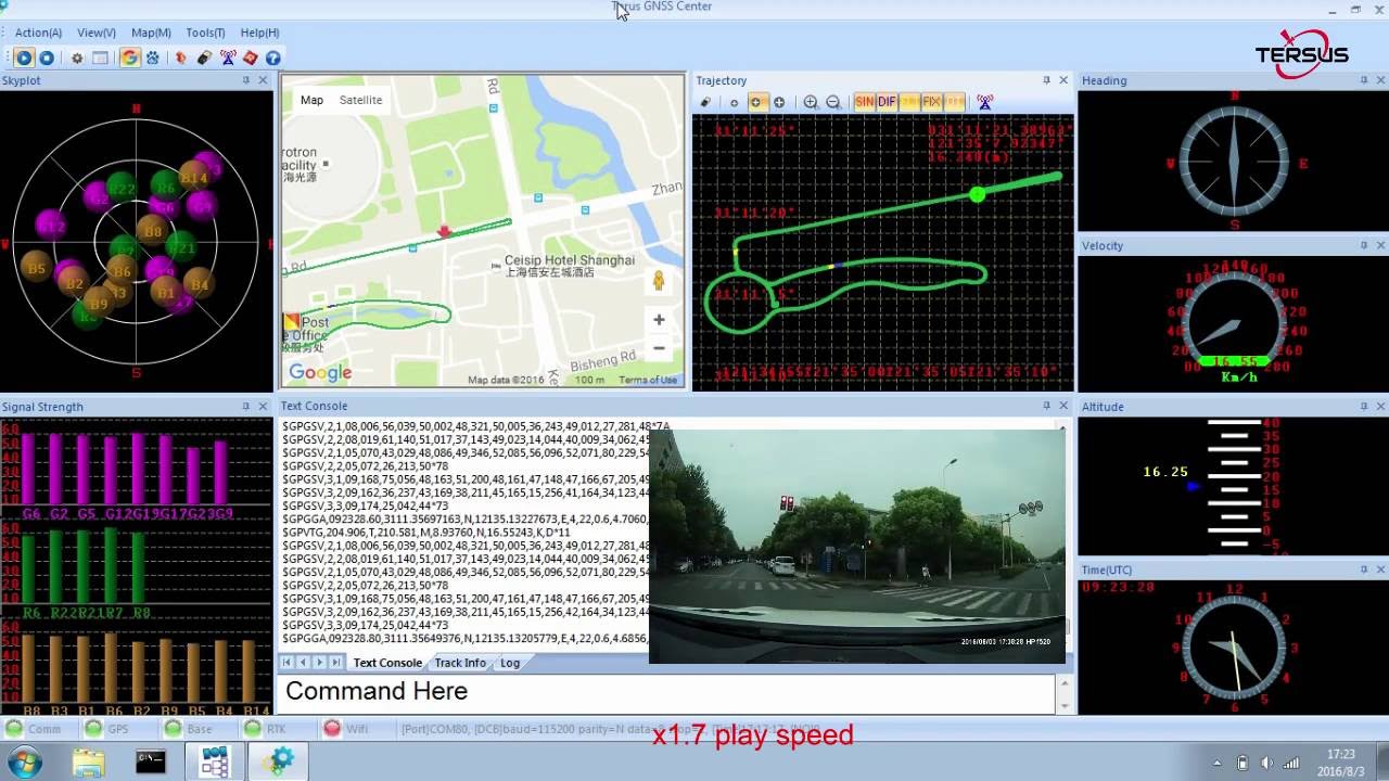 GNSS RTK Receiver Road Test Demo (Precis-BX305)