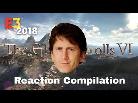 Bethesda E3 2018 - the elder scrolls VI - Reaction Compilation