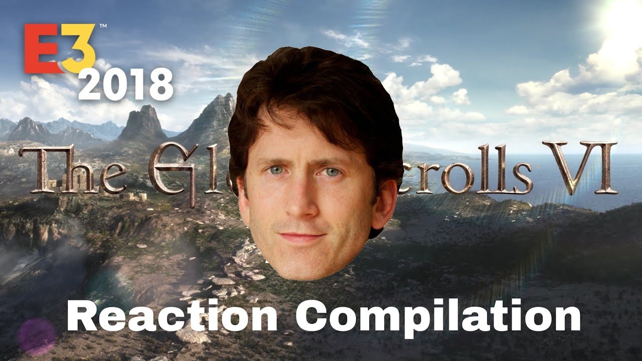 Bethesda E3 2018 - the elder scrolls VI - Reaction Compilation