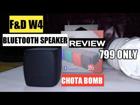 F&D W4 (Chota Bomb) Portable Wireless Speaker Unboxing & Review | F&D W4 Bluetooth Speaker Wow