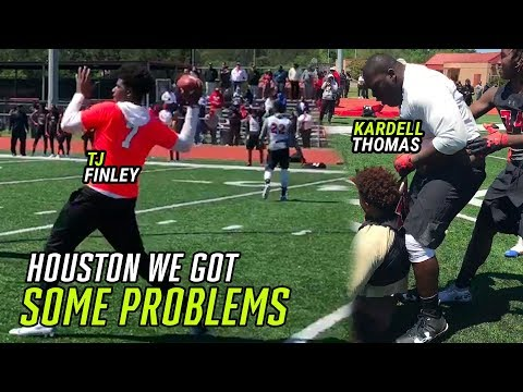 """""""I OWN YOU!"""" LSU Commit Kardell Thomas And Top QB TJ Finley DOMINATE In Houston!"""