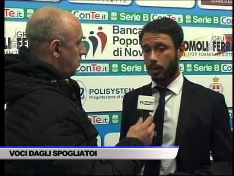 INTERVISTA MARCO RIGONI DOPO GARA NOVARA-SALERNITANA