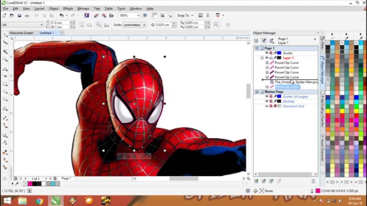 Spider Man Vector Trace Coreldraw Tutorial Youtube