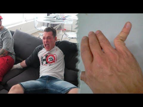 HE BROKE MY PINKY FINGER AGAIN!?! (SAT ON BAD HAND)