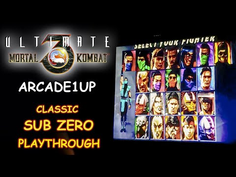 ULTIMATE MORTAL KOMBAT 3 Arcade1UP - CLASSIC SUB ZERO PLAYTHROUGH + ENDING // LETS PLAY from JDCgaming